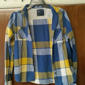 Blue, White, & Yellow. AMERICAN EAGLE. Flannel. M.